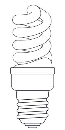 expedient: Illustration of the contour energy saving luminescent lamp