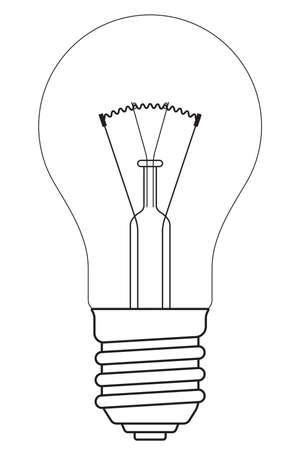 incandescent: Illustration of the contour incandescent lamp