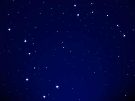 costellazioni: Illustrazione del Grande Carro e Piccolo Carro costellazione sullo sfondo del cielo stellato