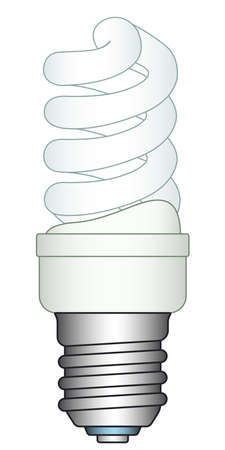 expedient: Illustration of the energy saving luminescent lamp