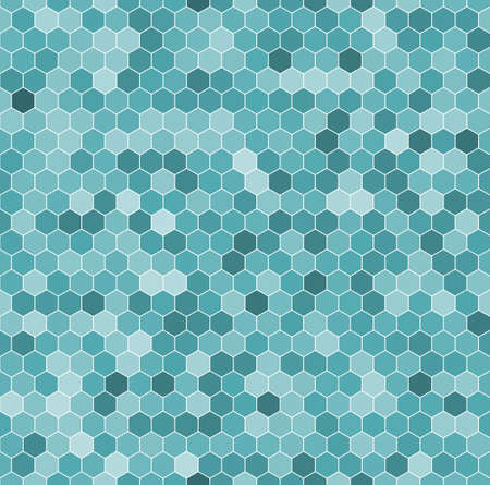 Seamless pattern of the hexagon mosaic tiles 일러스트