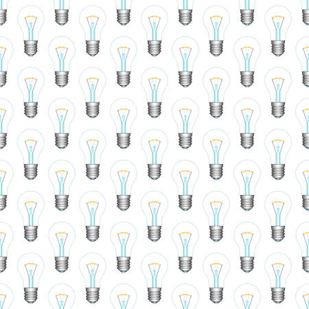 Seamless pattern of the light bulb icons