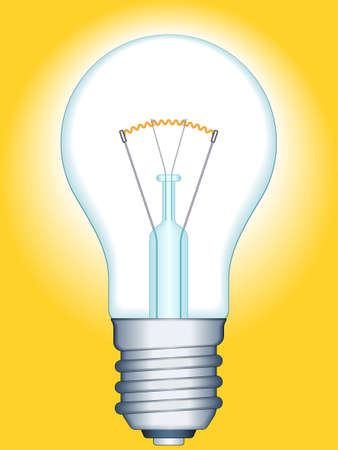 Illustration of the glowing light bulb