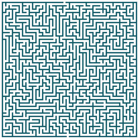 escape route: Illustration of the maze pattern for leisure