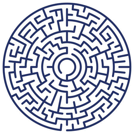 Illustration of the round maze Vector