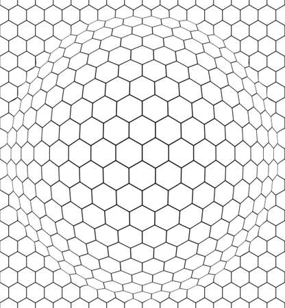 Seamless pattern of the convex hexagonal net Illustration
