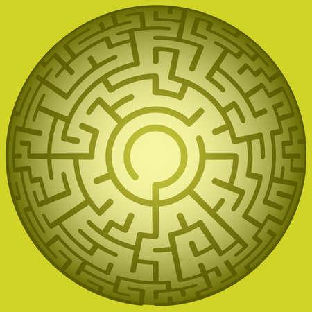 convex: Illustration of the convex round maze Illustration