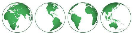 hemisphere: Illustration of the globes hemisphere set.