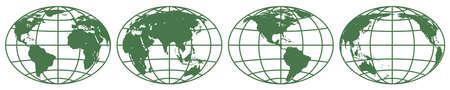 hemisphere: Illustration of the various globes hemisphere.