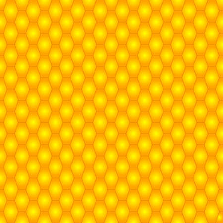 oblong: Seamless pattern of the abstract yellow oblong hexagons Illustration