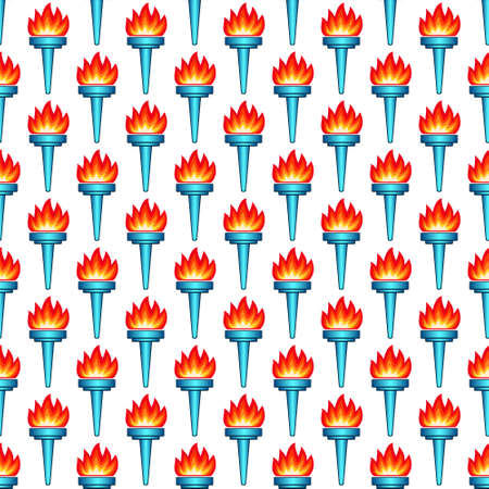 luminary: Seamless pattern of the torch icons