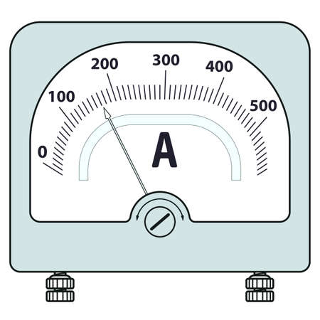 ammeter: Illustration of the ammeter icon