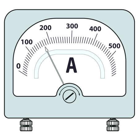 amperage: Illustration of the ammeter icon