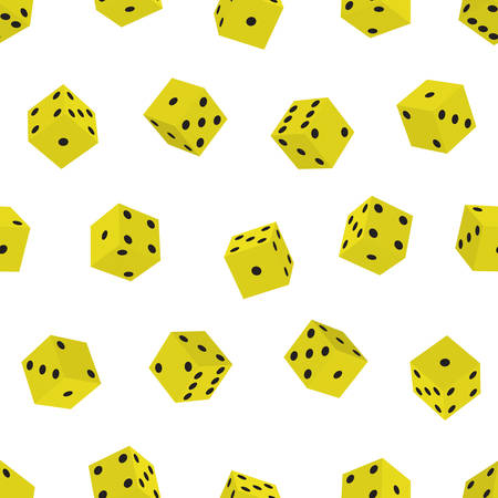 hexahedron: Seamless pattern of the dice cubes