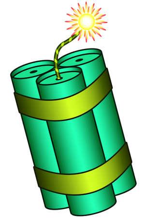 blasting: Illustration of the dynamite stick bunch icon