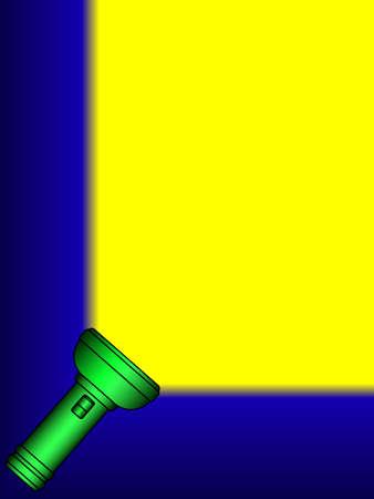 Illustration of the shining flashlight Vector