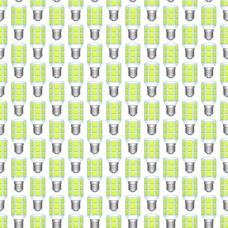 expedient: Seamless pattern of the LED lamp icons