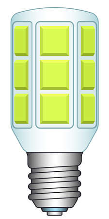 economical: Illustration of the LED lamp icon