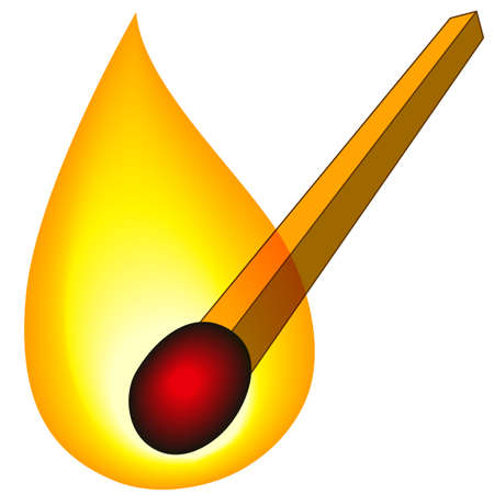 Illustration of the burning match icon