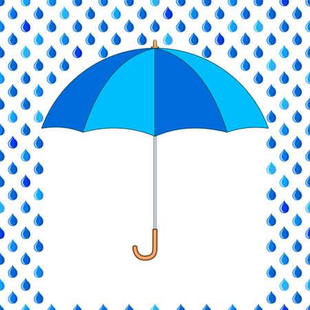 fallout: Seamless pattern of the umbrella and rain drops