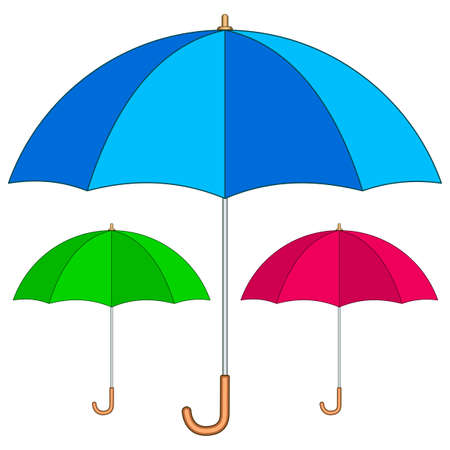 Illustration of the umbrella icon set Иллюстрация