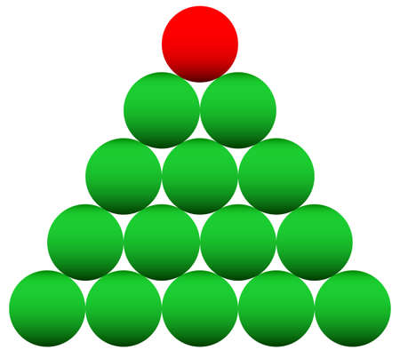 new year eve beads: Concept illustration of the beads Christmas tree