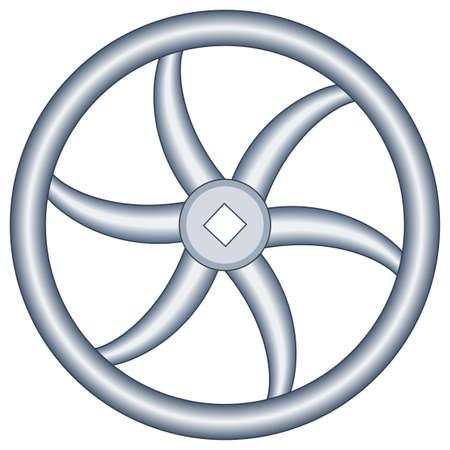 flywheel: Illustration of the handwheel icon Illustration