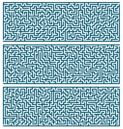 admittance: Illustration of the maze set for leisure Illustration