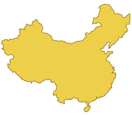 mapa de china: Contorno de la frontera del mapa de la China. Fuente del mapa: http:www.lib.utexas.edumapsmiddle_east_and_asiachina_pol01.jpg