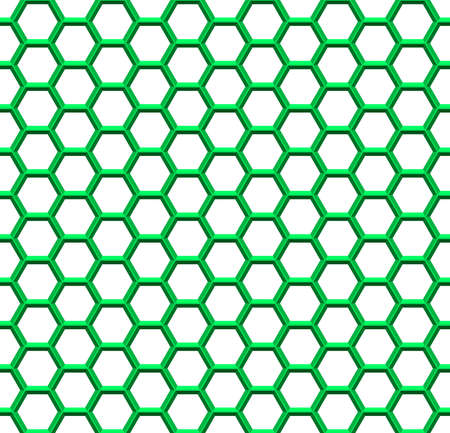 Seamless pattern of the hexagonal mosaic