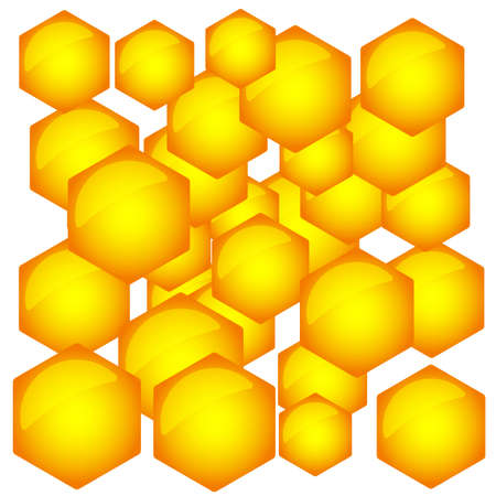catchlight: Abstract pattern of the hexagonal honeycombs Illustration