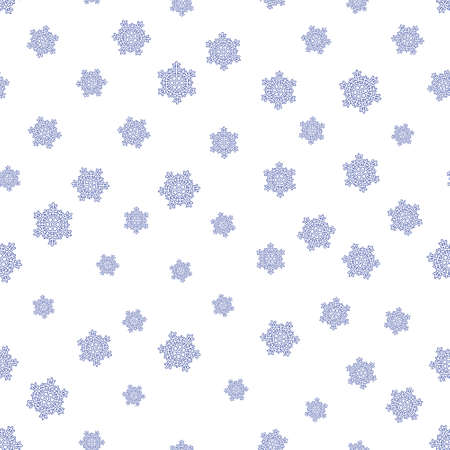 coldness: Seamless pattern of the different sizes snowflakes