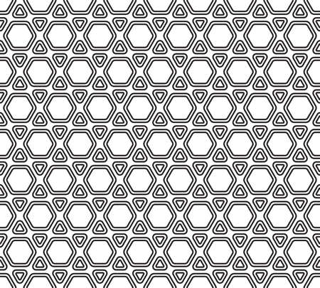 covering cells: Seamless pattern of the hexagonal and triangles mosaic Illustration