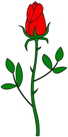 red rose: Illustration of the rose flower icon