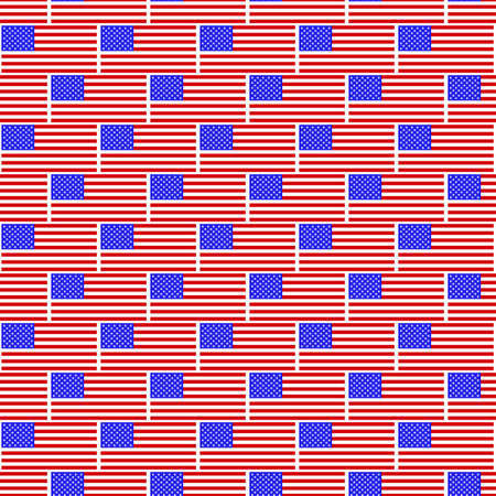 united states flags: Seamless pattern of the United States flags