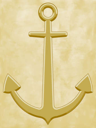 docking: Illustration of the anchor on vintage background