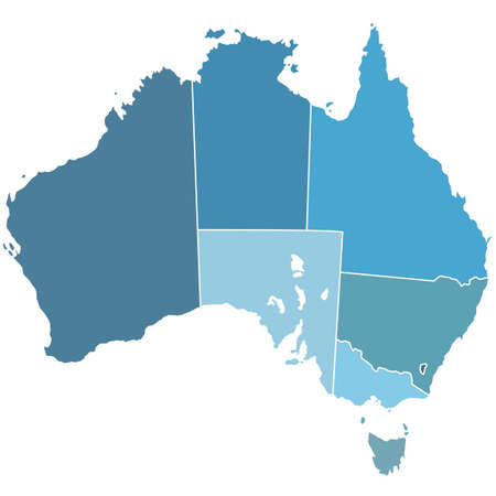 Contour silhouette map of the Australia. All objects are independent and fully editable. Source of map: http:www.lib.utexas.edumapsaustraliaaustralia_pol99.jpg