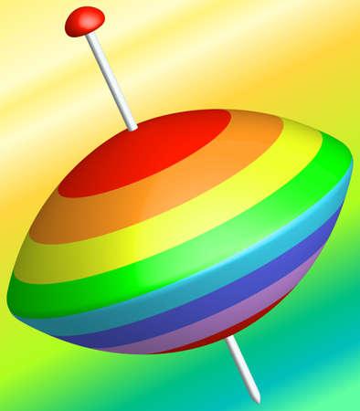 molinete: Ilustraci�n del icono de la perinola abstracto