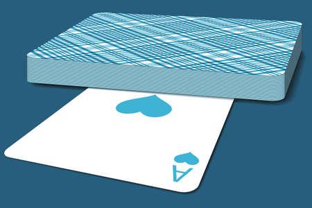 deck: Illustration of the deck of cards Illustration