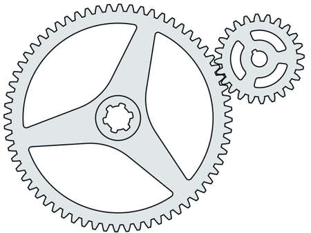 pinion: Illustration of the gear wheel and pinion