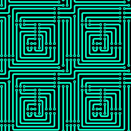 mounting: Seamless pattern of the printed circuit board Illustration