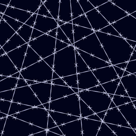 Illustration of the abstract barbed wire on black background