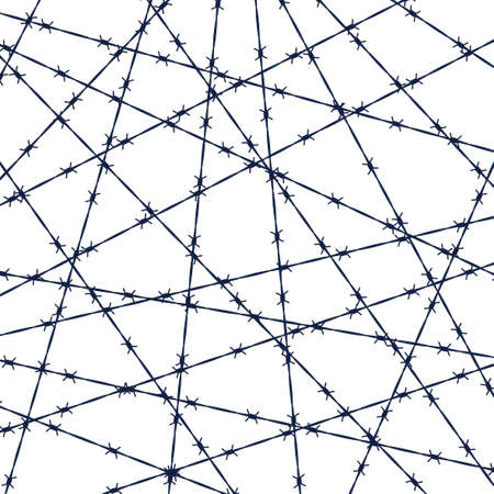 Illustration of the abstract barbed wire background Illustration