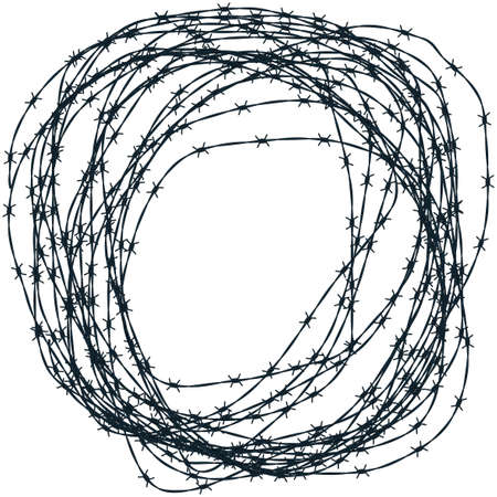 有刺鉄線クリューのイラスト 写真素材 - 38455089