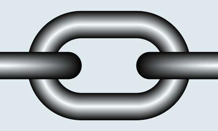 Illustration du lien de la chaîne comme un élément transparent pour motif, brosses, etc.