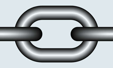 Illustration of the chain link as a seamless element for pattern, brushes etc. Illustration
