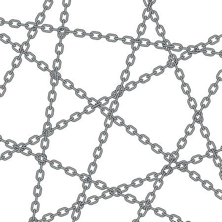 Illustration of the abstract chain pattern Illustration