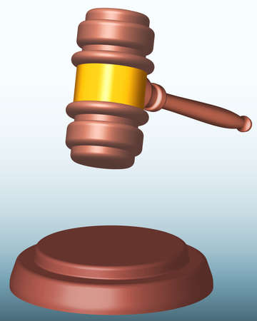proceedings: Illustration of the judge or auction gavel Illustration