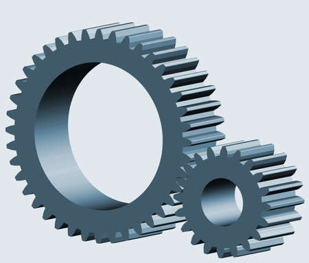 pinion: Illustration of the 3d gear wheel and pinion Illustration