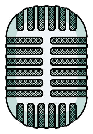 the outmoded: Illustration of the abstract old vintage microphone icon